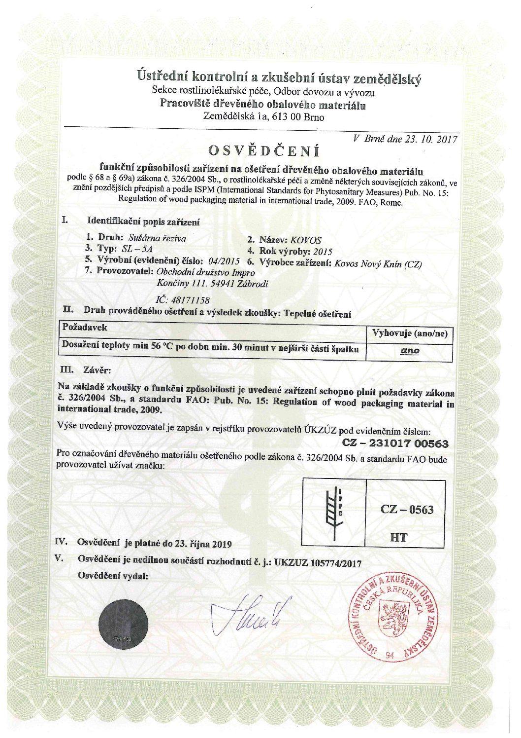 FYTO Certifikát